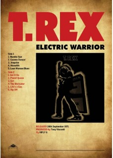 Poster Print   Unique Design     Electric Warrior Lp
