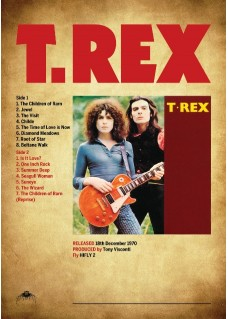 Poster Print Unique Design   Quality Print  T.REX First LP