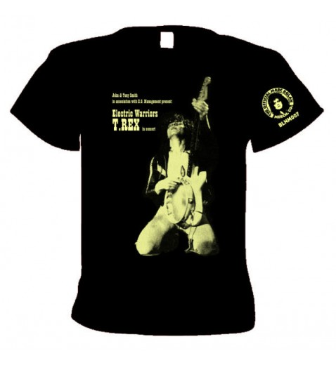 T Shirt      T.Rex  1971        The Warrior Tour                                2 sided print   T shirt    with tour dates