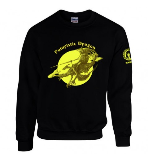 Sweatshirt   Futuristic Dragon                   XXXL  Size only Black Shirt
